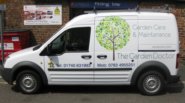 The Garden Doctor custom vehicle graphics