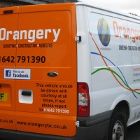Orangery partial vehicle wrap