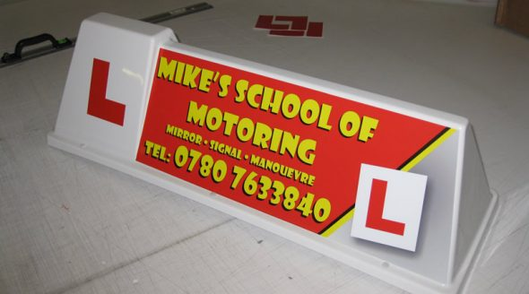 Driving School Car Roof Sign