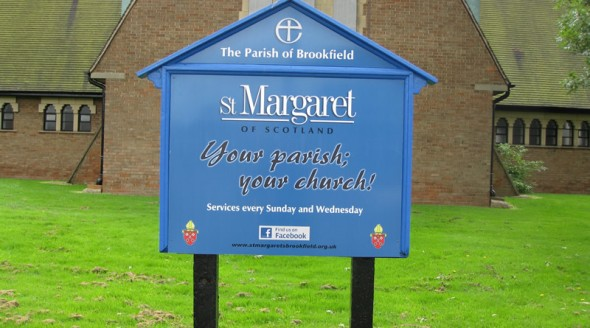 St Margaret timber sign