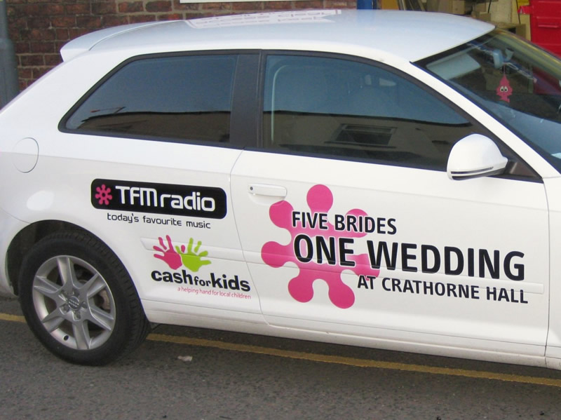 TFM Radio Custom Car Graphics GT Signs And Print Limited - Vinyl decals for cars uk