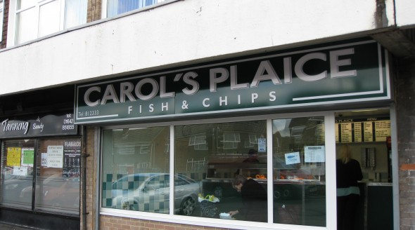Carols Plaice Fish Shop Sign