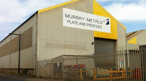 Murray Metals large shed sign